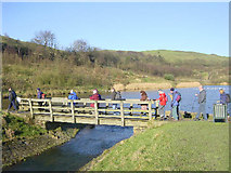SD9506 : Walkers at Lower Strine Dale Reservoir by Martin Clark