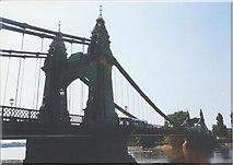 TQ2278 : Hammersmith Bridge by Rosalind Mitchell
