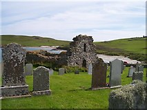 HP5604 : Remains of St Olaf's Church, Lunda Wick, Unst, Shetland by Bob Embleton