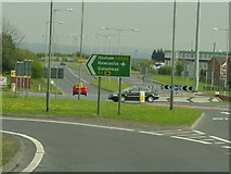 NZ2856 : The junction with the A1 and Portobello, Birtley by Ann Hodgson