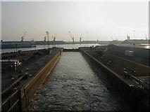 TA1428 : Lock Gates, King George Docks, Hull by Sue Jackson