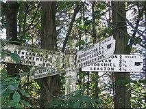 NT5465 : Old road sign, Longyester. by Richard Webb