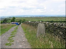 "SD7624 : ""Mount Pleasant"", Haslingden Moor's Trig pillar. by Richard Webb"