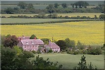 SU1691 : Burytown Farm taken from the top of Castle Hill Fort by Martyn Pattison