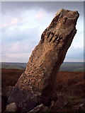 SE0128 : The Greenwood Stone, Midgley Moor by Mark Anderson