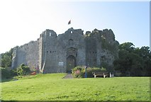 SS6188 : Oystermouth Castle near Mumbles, Swansea Bay by Nigel Davies