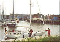 TA2810 : Grimsby Marina by Chris Coleman