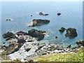 SX0850 : Rocks at Little Gribbin by Chris J Dixon