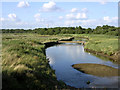 SZ4598 : Dark Water river and marsh, Lepe Country Park by Jim Champion