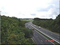 SJ1675 : A55 near Pantasaph by Dot Potter