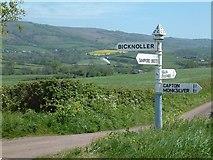 ST0939 : Crossroads near Vellow by Steve Edge