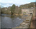 NS8842 : River Clyde & New Lanark by paddy heron