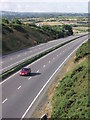 SW7446 : A30 near Chiverton Cross by Sheila Russell