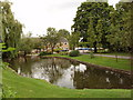 SP7901 : Nursing Home and pond, Saunderton by David Hawgood