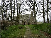 SN1718 : Church at Sarn-las, Llangan West by Humphrey Bolton