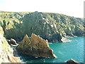 SW4136 : Porthmoina Cove by David Medcalf