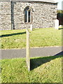 SW8769 : Slate gravestone at St Eval by David Hawgood