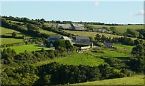SW9372 : Trevilgus Farm (foreground) and Penrose by Janine Forbes