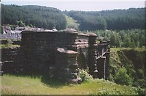 SS8596 : Remains of railway viaduct, Cymer by Ron Strutt