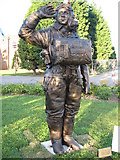 NZ3613 : The Statue to Pilot Officer Andrew Mynarski at Teesside Airport by Nick W
