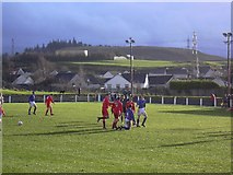 NS4756 : Brig o'Lea Stadium, Neilston. Football ground by paul c