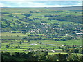 SE0344 : Steeton and view over Aire Valley taken from Lightbank Lane Silsden by Roger Marshall