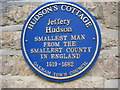 Photo of Jeffery Hudson blue plaque