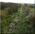 SD9119 : Long Causeway. Paved Public Bridleway on Crook Moor above Watergrove Reservoir by Pete Chapman