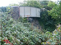 SN4407 : Bridge over disused railway at Pont Newydd by Nigel Davies