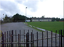 ST7567 : Larkhall Sports Club, WNW from the allotment area by Colin S Pearson