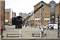 SO8218 : Steam Crane,  Gloucester Docks by Crispin Purdye