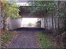 NZ2672 : Footpath Underpass by Weston Beggard