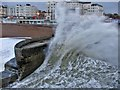 TQ3103 : Rough Sea near Palace Pier, Brighton by Christine Matthews