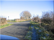 NY0824 : Country road junction. by John Holmes