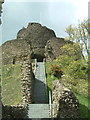 SX3384 : Launceston Castle by Rob Farrow