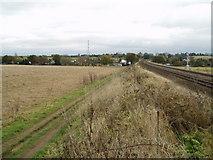 SO8473 : Mainline railway, near Kidderminster by Martyn B