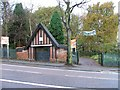 SK5643 : Scout Hut Gates, Black Woods by Mick Garratt