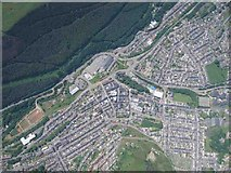 SO2104 : Abertillery from a Paraglider by Graham Richards
