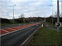 ST1369 : Barry Docks link road by Richard Knights