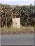 SK0941 : Mile Post on the edge of Denstone by Linda Bailey