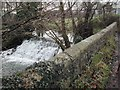 ST4761 : Waterfall on the Congresbury Yeo SW of Wrington by FollowMeChaps