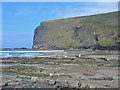 SX1397 : Pencannow Point Crackington Haven Cornwall by Clive Perrin