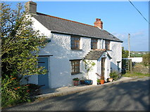 SX1595 : Cottage at Sweets nr Crackington Cornwall by Clive Perrin