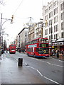 TQ2881 : Oxford Street with red double-decker buses by David Hawgood