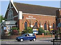 Dist:0.3km<br/>Cheam Church is a outstanding large building dominating this corner of Cheam.  With extensive halls and a large sanctuary.