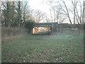 SJ4368 : Disused railway bridge by Dennis Turner