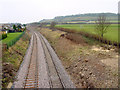 ST5679 : Railway track, from Station Road, Henbury by Linda Bailey