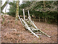 SU2412 : Collapsed deer stalking seat, Ocknell Inclosure, New Forest by Jim Champion