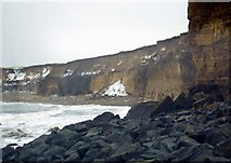NZ4154 : Coastal Erosion on the Coast at Sunderland, 12th March 2006. by Martin Routledge