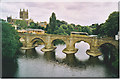 SO5039 : Hereford Cathedral and Wye Bridge. by Colin Smith